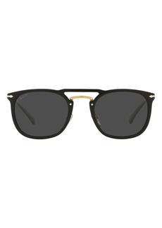 Persol Phantos 50mm Polarized Round Sunglasses