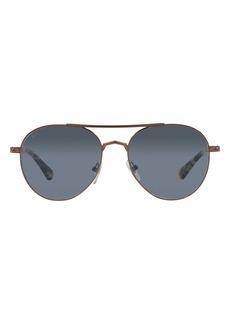 Persol Phantos 57mm Aviator Sunglasses