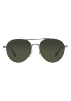Persol Phantos 57mm Polarized Aviator Sunglasses