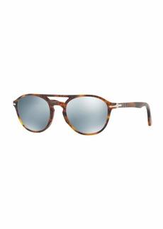 Persol PO3170S Mirrored-Lens Pilot Sunglasses