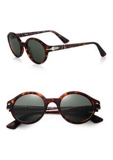 Persol Retro 51MM Round Sunglasses