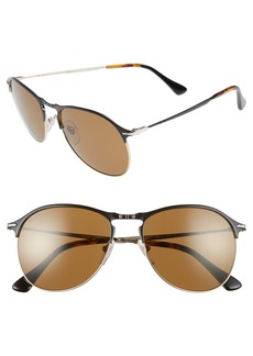 Persol Sartoria 56mm Polarized Aviator Sunglasses