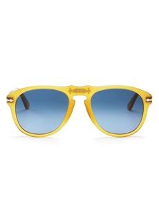 Persol Unisex Miele Aviator Sunglasses, 54mm