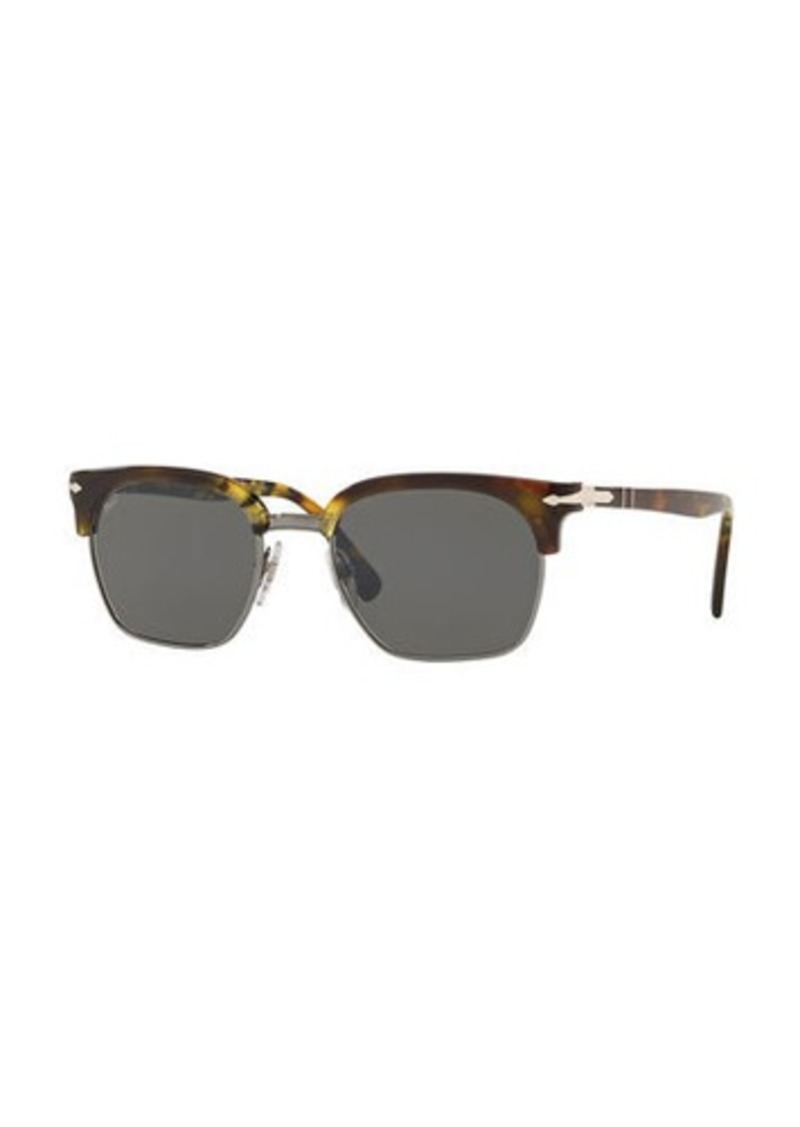Persol PO3199S Rectangular Sunglasses with Solid Lenses