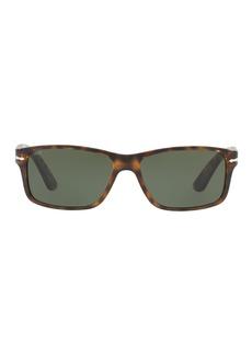 Persol Rectangular Propionate Sunglasses with Solid-Color Lenses