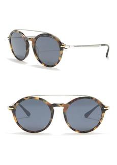 Persol 51mm Saratoria Round Sunglasses