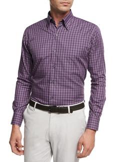 Peter Millar Autumn Check Cotton Sport Shirt