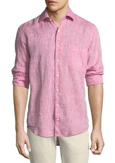 Peter Millar Crown Cool Woven Linen Shirt