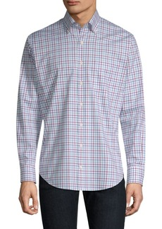 Peter Millar Crown Ease Eyre Tattersall Button-Down Shirt