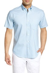 Peter Millar Crown Ease Regular Fit Check Short Sleeve Button-Down Shirt