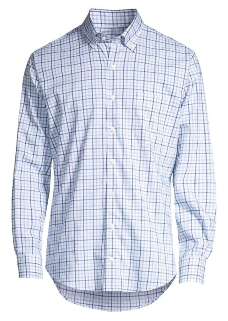 Peter Millar Crown Regular-Fit Checkered Shirt
