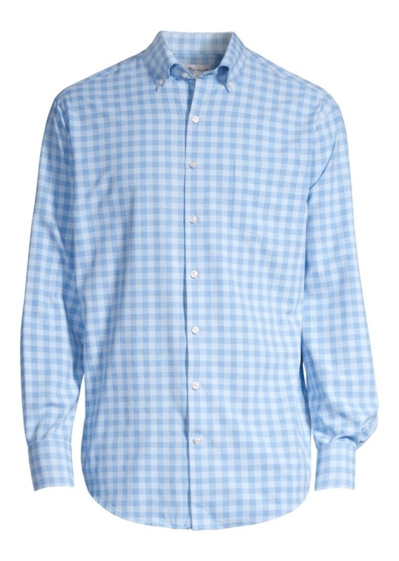 Peter Millar Crown Sport Natural Touch Gingham Sport Shirt