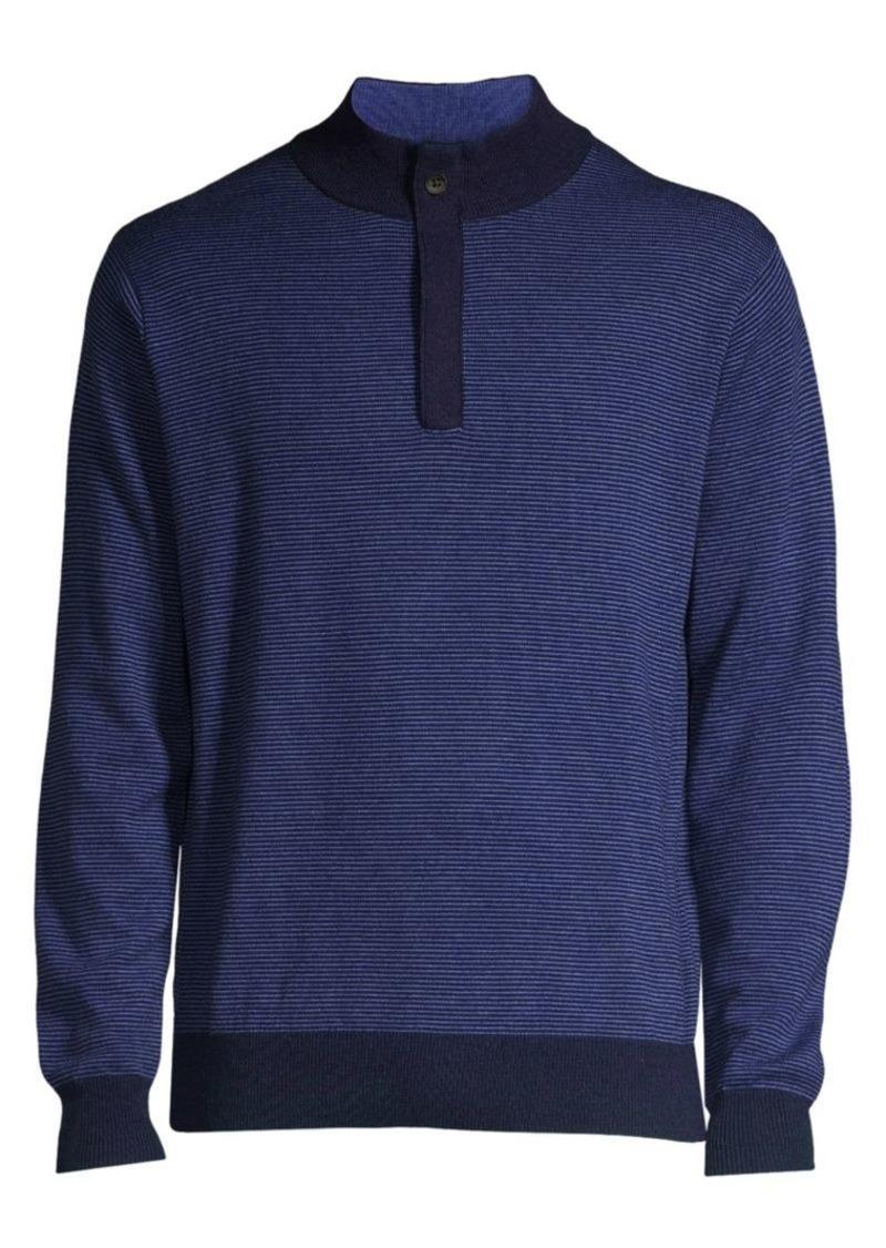 Peter Millar Crown Wool Quarter-Zip Sweater