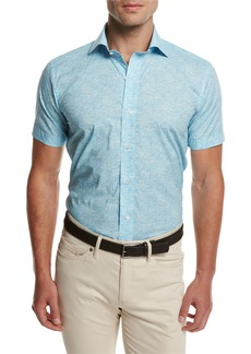 Peter Millar Day Glow Short-Sleeve Sport Shirt