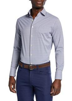 Peter Millar Men's Barton Glen Plaid Woven Sport Shirt with Pocket