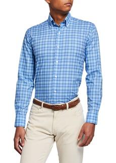 Peter Millar Men's Blyde Check Sport Shirt