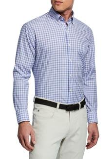 Peter Millar Men's Camden Box Check Woven Shirt
