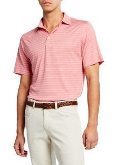 Peter Millar Men's Crown Cool Stripe Polo Shirt