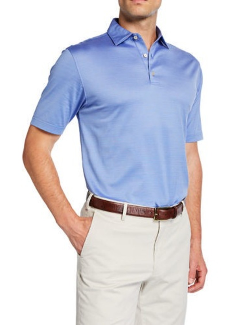 Peter Millar Men's Crown Ease Jacquard Polo Shirt
