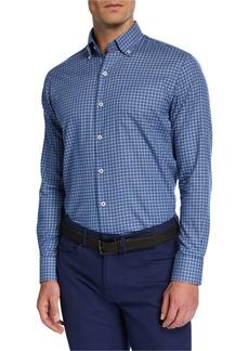 Peter Millar Men's Crown Ease Stretch-Check Sport Shirt