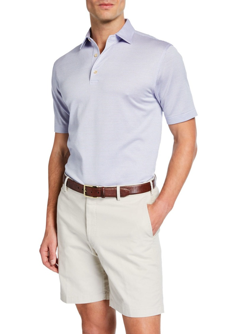 Peter Millar Men's Crown Ease Striped Cotton Lisle Polo Shirt