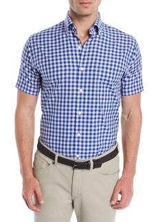 Peter Millar Men's Crown Finish Check Short-Sleeve Sport Shirt