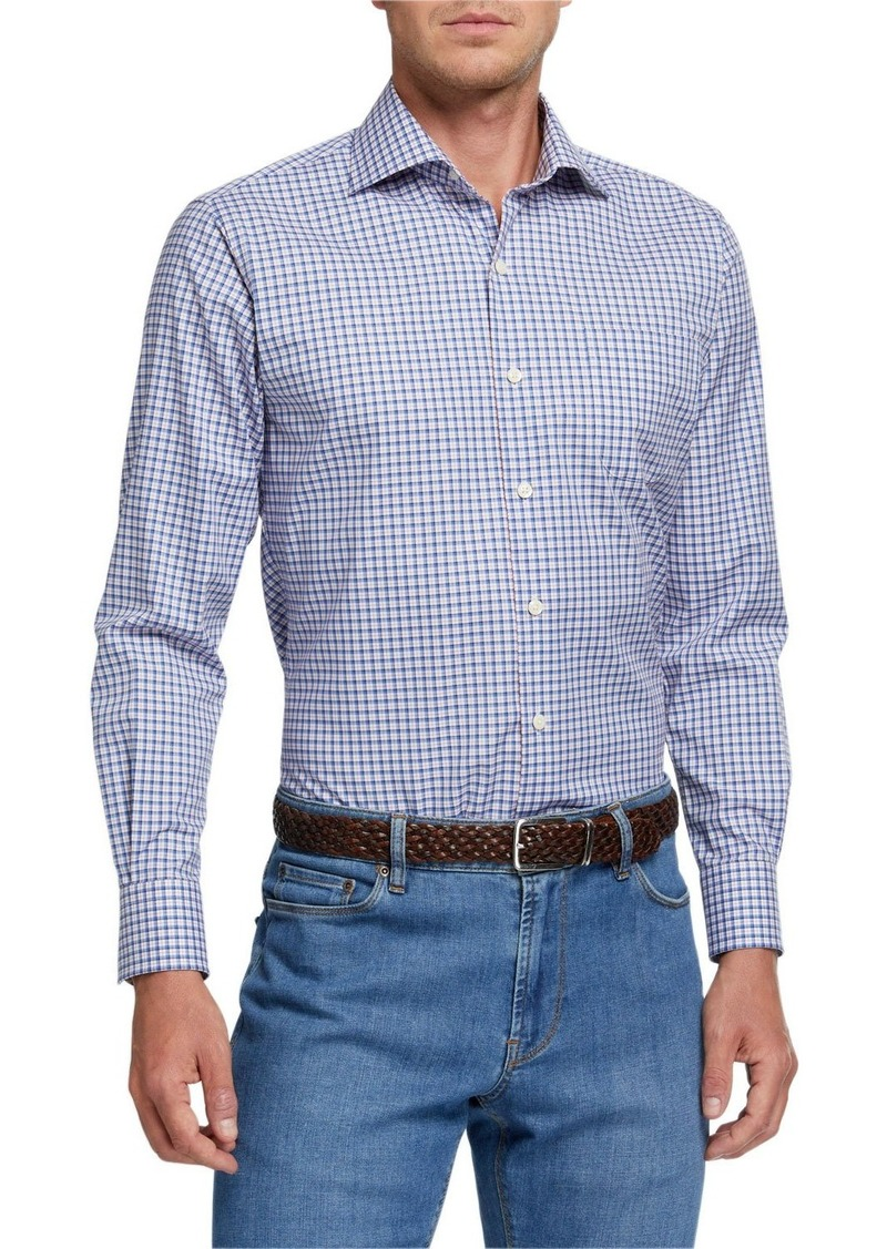 Peter Millar Men's Ease Crown Check Sport Shirt