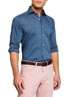 Peter Millar Men's Falls Printed Long-Sleeve Shirt