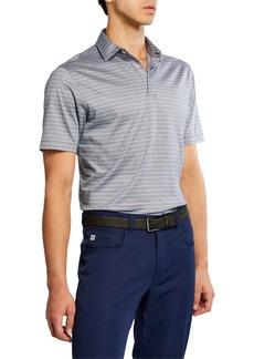 Peter Millar Men's Jackson Stripe Lisle Polo Shirt