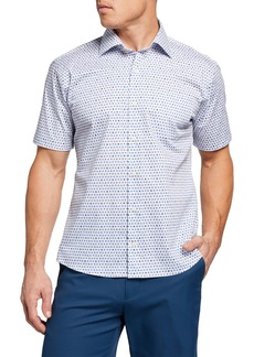 Peter Millar Men's Micro-Cocktails Sport Shirt