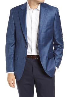 Men's Big & Tall Peter Millar Classic Fit Plaid Wool Sport Coat