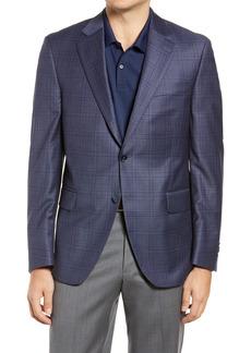 Men's Big & Tall Peter Millar Flynn Classic Fit Deco Plaid Wool Sport Coat