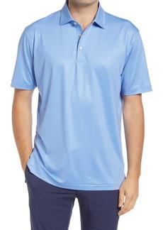 Men's Peter Millar Geo Print Short Sleeve Performance Jersey Polo