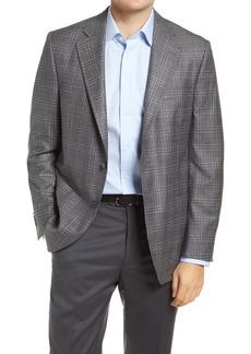 Men's Big & Tall Peter Millar Hyperlight Plaid Wool Sport Coat
