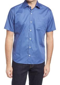 Men's Peter Millar Murphy Microprint Short Sleeve Button-Up Shirt