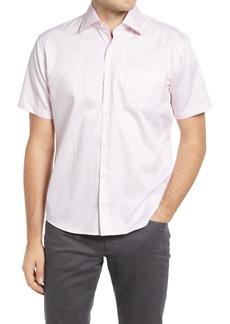 Men's Peter Millar Regular Fit Pine Cone Print Short Sleeve Button-Up Shirt