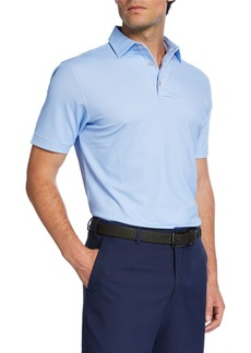 Peter Millar Men's Printed Pine-Dot Polo Shirt