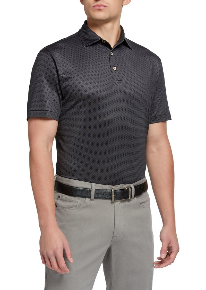 Peter Millar Men's Royal-Print Branch Polo Shirt