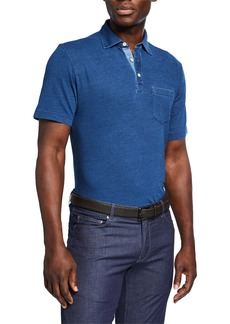 Peter Millar Men's Seaside Heathered Polo Shirt
