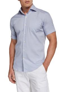 Peter Millar Men's Short-Sleeve Pocket Sport Shirt