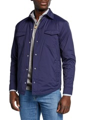 Peter Millar Men's Springtime Snap-Front Shirt Jacket