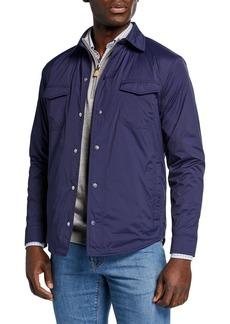 Peter Millar Men's Springtime Snap-Front Shirt Jacket