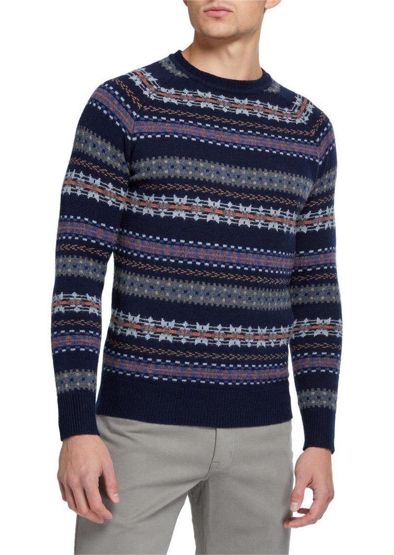 Peter Millar Men's Striped Crewneck Sweater