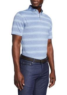 Peter Millar Men's Striped Jersey Polo Shirt