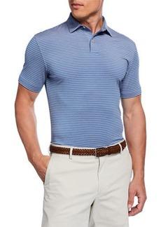 Peter Millar Men's Tour Fit Coltrane Stripe Stretch Jersey Polo Shirt