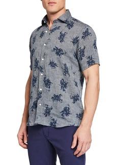 Peter Millar Men's Urban Safari Printed Short-Sleeve Sport Shirt