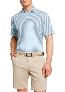 Peter Millar Men's Variegated-Stripe Polo Shirt