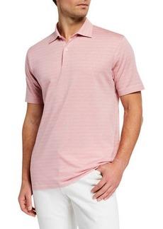 Peter Millar Men's Vintage Coast Linen-Blend Polo Shirt