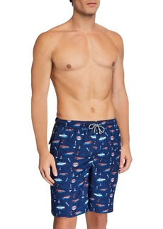 Peter Millar Men's Wooden Boats Swim Trunks