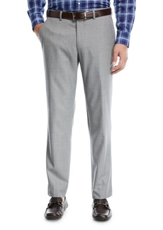 Peter Millar Multi-Season Wool Flat-Front Trousers
